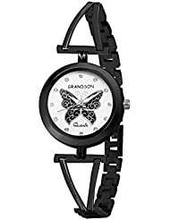 Grandson Black Casual Analog Watch For Girls And Women - B01L8ZQXNI