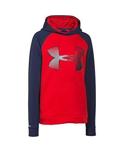 Under Armour Boys' UA Storm Armour Fleece Jumbo Logo Hoodie Youth Medium RISK RED