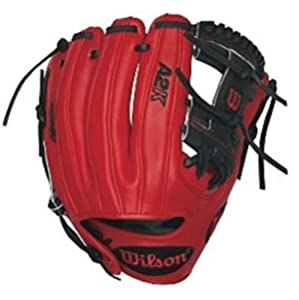Wilson A2K DP15GM Dustin Pedroia Game Model Infield Baseball Glove 11.5 in Black Red Right Handed Throw