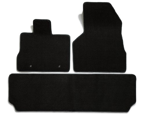 Premier Custom Fit 3-piece Set with 2 Front and 1 Rear Carpet Floor Mats for Mercedes-Benz S Series (Premium Nylon, Black)