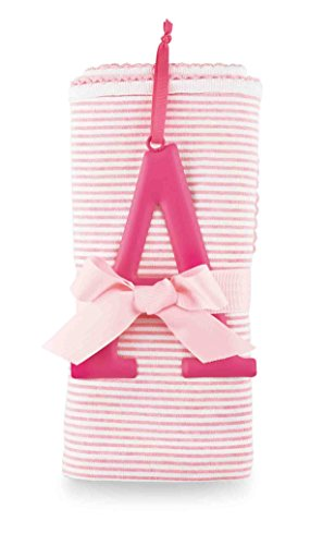 Mud Pie Cotton Receiving Blanket, A/Pink - 1