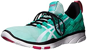 ASICS Women's GEL-Fit Sana Cross-Training Shoe, Mint/White/Black, 11 M US