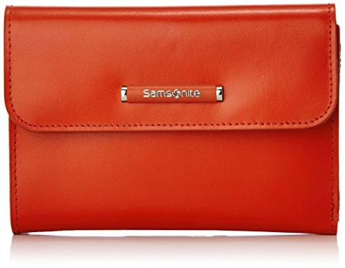 Samsonite Lady Chic II SLG Portafoglio Portamonete, Pelle, Coral Red, 15 cm