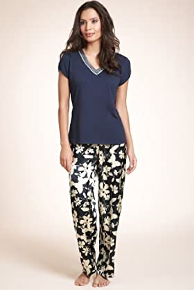 Per Una V-neck Short Sleeve Floral Pyjamas