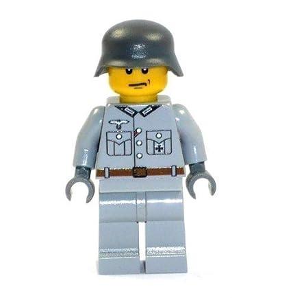 LEGO® - Personnalisé soldat de la Wehrmacht WW2 chiffre grise imprimée à partir de pièces