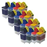 4 Compatible Sets of Brother LC900 Printer Ink Cartridges (16 Inks) - Black / Cyan / Magenta / Yellow for Brother DCP-110C DCP-115C DCP-117C DCP-120C DCP-310 DCP-310CN DCP-315C DCP-315CN DCP-340CN DCP-340CW FAX-310 FAX-1835 FAX-1835C FAX-1840C FAX-1940 F