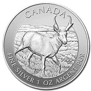 2013 Canada 1 oz Silver Antelope Coin