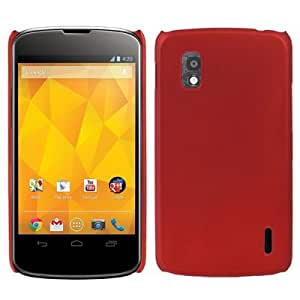 Pure Color Plastic Case for LG Nexus 4 / E960 (Scarlet Red)