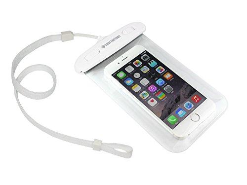 CASE FACTORY 防水ケース AQUA MARINA for iPhone 6s / 6 / SE / 5s / 5c / 5 防水保護等級 IPX8 ネックストラップ付属 AAM-004 白