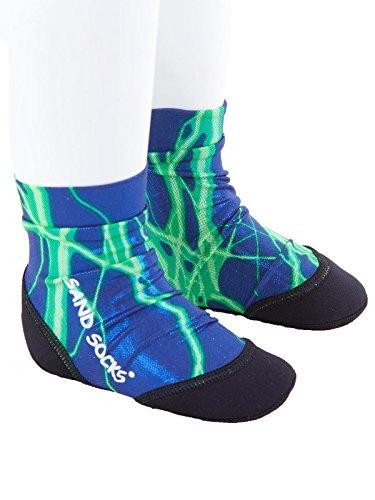 vincere-sand-socks-soft-soled-beach-socks-toddler-child-small-green-lightning