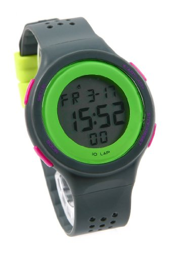 Korean Retro Girls Students Contrast Color Led Sport Watches Gray