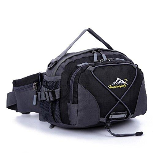 Iuhan® Fashion Waterproof Running Belt Bum Waist Pouch Fanny Pack Camping Sport Hiking Shoulder Bag (black)