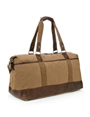 Cotton Rich Detachable Strap Waxed Holdall