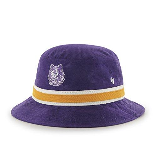 Ncaa Washington Huskies '47 Brand Bright Striped Bucket Hat, One Size, Purple front-1074340