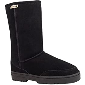 Bearpaw Womens Suede & Shearling Boot (8 B(M) US, Hickory)