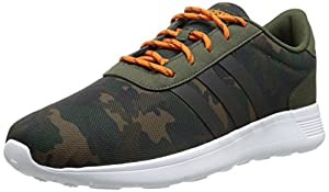 Adidas NEO Men's Lite Racer Lifestyle Running Shoe, Night Cargo/Black/Orange, 14 M US