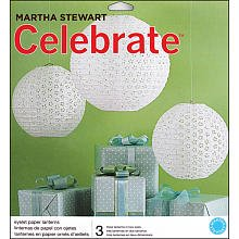 Martha Stewart Crafts Lanterns, White Eyelet