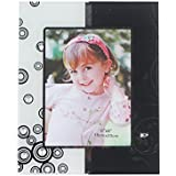 "Orchard Black And White Bubble Photo Frame,8""x6""-1149"