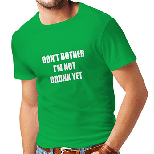 N4076 T-shirt da uomo I am not drunk yet gift (XX-Large Verde Bianco)