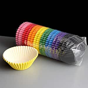 Mixed Colour Market High Quality Muffin Cupcake Cases (Pack of 192)