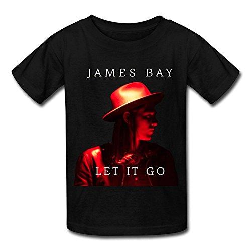 Big Boys'/Girls' James Bay Let It Go 1 T-Shirt - BlackYILIAX10228Large