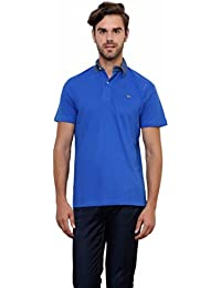 Lemon And Vodka Men's Polo Tshirt With Denim Collar (LNV-DNMCLR-ROYAL_Royal)