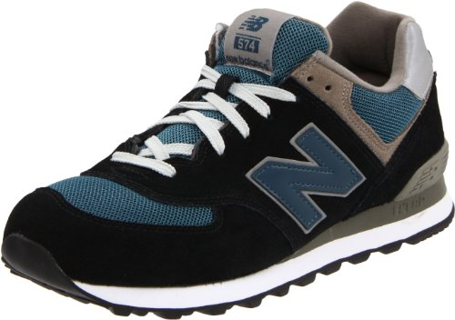 New Balance Men's ML574 Lifestyle Sneaker,Navy/Slate Blue Suede,10.5 D US New Balance Fashion Sneakers autotags B004N62WLC