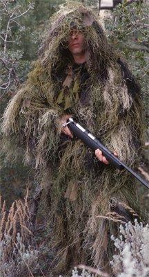 Bushrag Ultra Light Long Ghillie Jacket-Woodland