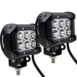 Delhitraderss 6 LED Fog Light / Work Light Bar Spot Beam Off Road Driving Lamp 2 Pc 18W CREE -Royal Enfield Classic 350