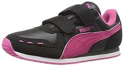 PUMA Cabana Racer Mesh V Kids Sneaker (Infant/Toddler/Little Kid) , Black/Dark Shadow/Beetroot Purple, 8 M US Toddler