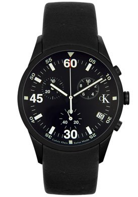 Men's Chronograph Black Rubber