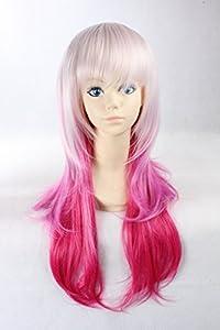 Lolita perruque Two Tones InspiršŠ par l'argent et rose couleur 70cm perruque de cheveux synthšŠtiques