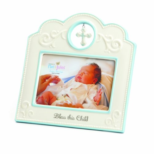 Nat and Jules Bless This Child Frame, Blue