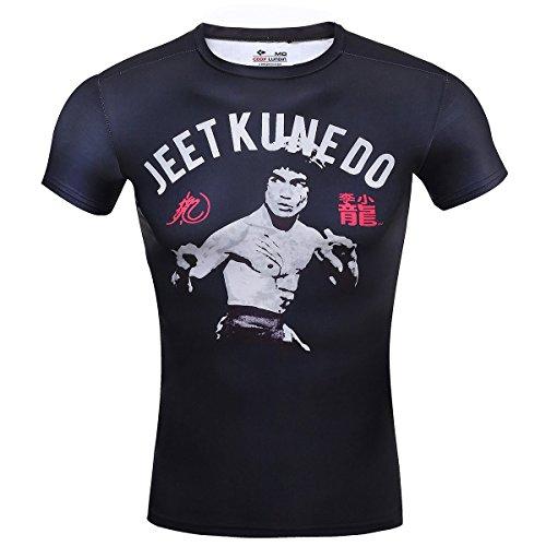 Cody Lundin® Maglietta a maniche corte da Uomo,da fitness training running compressione t-shirt Kung-Fu-uomo di Bruce Lee shirt (M)