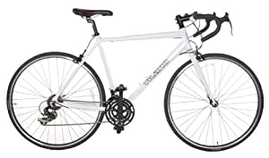 Vilano Aluminum Road Bike 21 Speed Shimano, White, 58cm Large