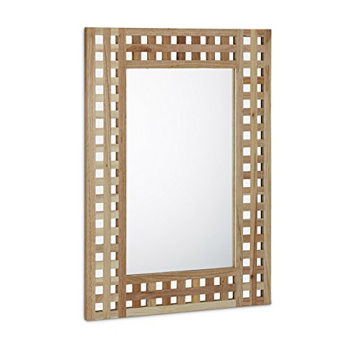 Relaxdays-Spiegel-Walnuss-HBT-694-x-510-x-18-cm-Badspiegel-Flurspiegel-Wandspiegel-Holz-mit-dekorativem-Gitterrahmen-natur