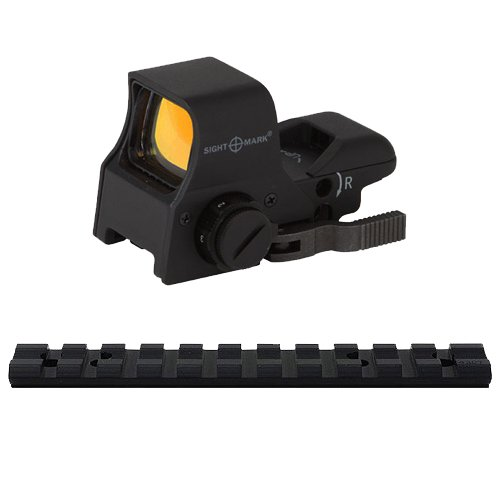 Tactical Ultra Shot Quick Detach NV Compatible Reflex Sight With Multiple Aiming Reticles And Leupold Bolt-On Weaver Rail Scope Mount For Marlin rifles 992M, 989, .22, 9, 45, 30AS, 30AW, 36, 62, 93, 336, 336C, 375, 444, 1993, 1894 Cowboy, 1895, Mossberg 6