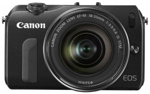 Canon デジタル一眼カメラ EOS M(ブラック) EF-M18-55IS STMレンズキット EOSMBK-18-55ISSTMLK