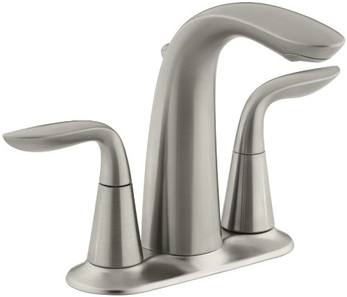 KOHLER K-5316-4-BN Refinia Centerset Lavatory Faucet, Vibrant Brushed Nickel (Kohler Bathroom Faucet Nickel compare prices)