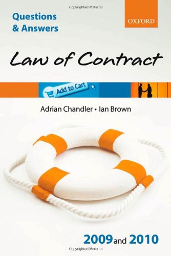 Q & A Law of Contract 2009 and 2010 (Blackstone's Law Questions and Answers)