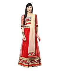 Yepme Hailly Lehenga Choli Set - Red -- YPMLEHG0083_Free Size