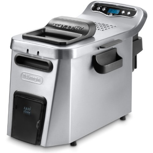 Delonghi Electric Professional Digital Deep Fryer, With Large 3 Lb Food Capacity, Features Digital Thermostat, Timer And Indicator Light, With Removable Heating Element, Oil Cycle Counter, And Windowed Lid, Oil Draining System, Dishwasher Safe