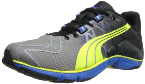 PUMA Men's Mobium Elite V2 Running Shoe,Black/Fluorescent Yellow,11.5 M US
