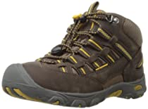 KEEN Alamosa Mid WP Hiking Boot (Toddler/Little Kid/Big Kid),Chocolate Brown/Tawny Olive,4 M US Big Kid