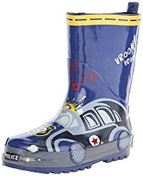 Joseph Allen JA24747C Rain Boot (Little Kid/Big Kid), Navy/Yellow, 1 M US Little Kid