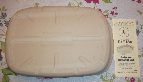 Pampered Chef Family Heritage Stoneware Rectangular Baker #1430 (Pampered Rectangular Baking Stone compare prices)