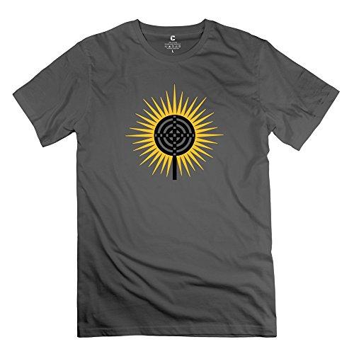 Customized Cross Atlantis Plato Symbol O Neck Mens T-Shirt