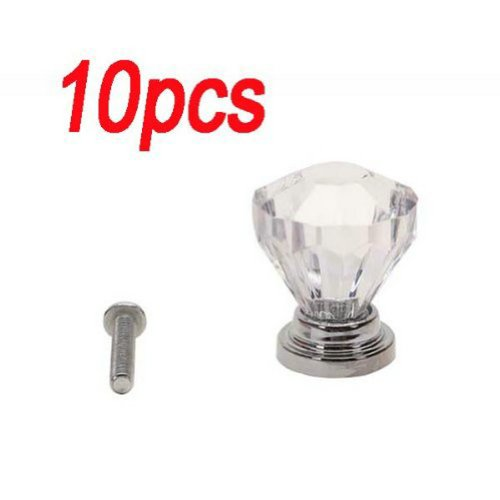 Fancasen 10pcs Clear Drawer Pull Knob Cabinet