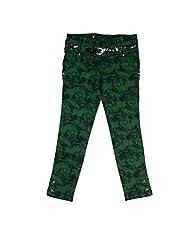 Bodingo Girls' Slim Pant (Bodingo1412G_Green_9-10 Years)