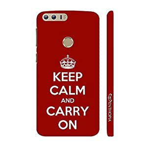 Enthopia Designer Hardshell Case KEEP CALM AND CARRY ON Back Cover for Huawei Honor 8